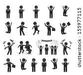successful business men set  ... | Shutterstock .eps vector #155977115
