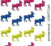 abstract triangular moose... | Shutterstock . vector #155977169