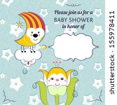 baby shower invitation card... | Shutterstock .eps vector #155978411