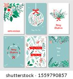 hand drawn merry christmas and...   Shutterstock .eps vector #1559790857
