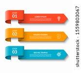 arrow infographic design... | Shutterstock .eps vector #1559803067