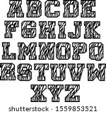 zebra alphabet letters isolated ... | Shutterstock .eps vector #1559853521