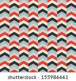 chevron geometric retro... | Shutterstock .eps vector #155986661