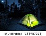Small Camping Tent Illuminated...