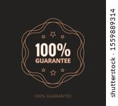 100  guaranteed label  ... | Shutterstock .eps vector #1559889314