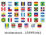 set of square icons with flags... | Shutterstock .eps vector #155991461