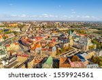 Aerial View Of Lublin City. Ol...