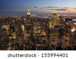 new york city skyline ... | Shutterstock . vector #155994401