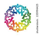 vector life strong friends... | Shutterstock .eps vector #155994425