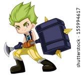 warrior kid   Shutterstock . vector #155994617
