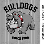 vintage bulldog mascot - stock vector