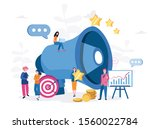 advertising promotion ... | Shutterstock .eps vector #1560022784