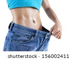 Weight Loss Concept  Slim Woma...