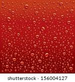 dark red water droplets...   Shutterstock .eps vector #156004127