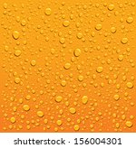 Orange Water Droplets Background