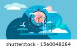 daytime cycle tiny person flat... | Shutterstock .eps vector #1560048284