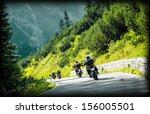 Group Of Moto Bikers On...