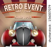 vector retro party brochure... | Shutterstock .eps vector #156007079