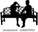 couple of people sitting on a... | Shutterstock . vector #1560070931