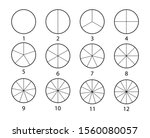 fraction mathematics. circle... | Shutterstock .eps vector #1560080057