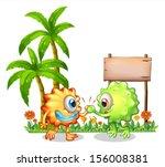 illustration of the monsters... | Shutterstock .eps vector #156008381