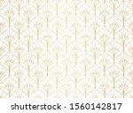 vector floral damask seamless...   Shutterstock .eps vector #1560142817