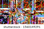 abstract psychedelic background ... | Shutterstock . vector #1560149291