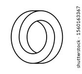 impossible circle shape.... | Shutterstock .eps vector #1560163367