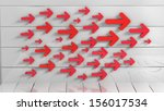 set of red arrows  | Shutterstock . vector #156017534