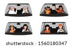 people driving car... | Shutterstock .eps vector #1560180347
