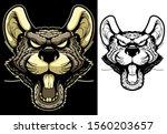 rat mascot. angry animal head...