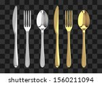Golden And Silver Fork  Knife...