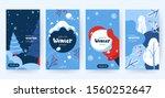 set of abstract winter... | Shutterstock .eps vector #1560252647