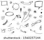 hand drawn set elements  for... | Shutterstock .eps vector #1560257144