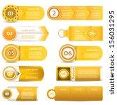 set of orange vector progress ... | Shutterstock .eps vector #156031295