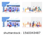 set of images with shopping... | Shutterstock .eps vector #1560343487