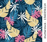 abstract seamless tropical... | Shutterstock .eps vector #1560356114