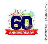 anniversary modern stamp seal... | Shutterstock .eps vector #1560380747
