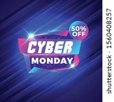 cyber monday sale sticker.... | Shutterstock .eps vector #1560408257