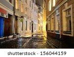 illuminated street in old part...   Shutterstock . vector #156044159