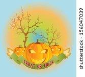 halloween vector | Shutterstock .eps vector #156047039
