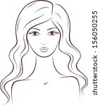 vector illustration of female... | Shutterstock .eps vector #156050255