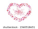 heart confetti isolated white... | Shutterstock . vector #1560518651