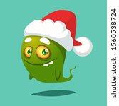 Funny Cartoon Monster Wearing...
