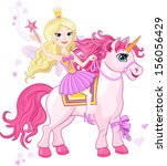 little fairy princess and... | Shutterstock .eps vector #156056429