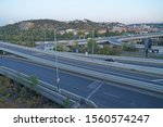 Barrandov bridge and intersection, Prague, Czech Republic