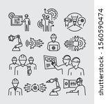 engineering people vector line... | Shutterstock .eps vector #1560590474
