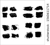 set of  painting brushes shapes ... | Shutterstock .eps vector #1560611714