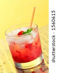 Small photo of Raspberry Rickey in a highball glass