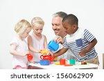 pre school children enjoying... | Shutterstock . vector #156062909